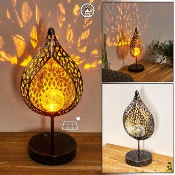 Protaras Lampa solarna LED Czarno-złoty, 1-punktowy