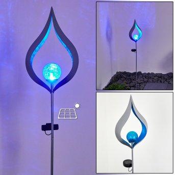 Rovinj Lampa solarna LED Srebrny, 1-punktowy