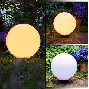 Campinas świecąca kula LED Czarny, Biały, 1-punktowy