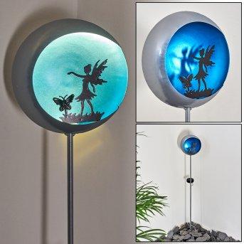 Loano Lampa solarna LED Niebeieski, Srebrny, 1-punktowy