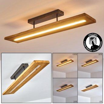 Adak Lampa Sufitowa LED Siwy, 1-punktowy