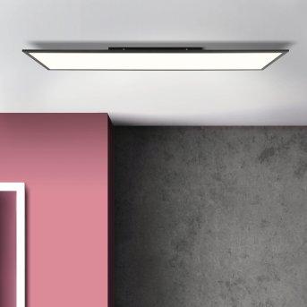 Brilliant Buffi Lampa Sufitowa LED Czarny, 1-punktowy