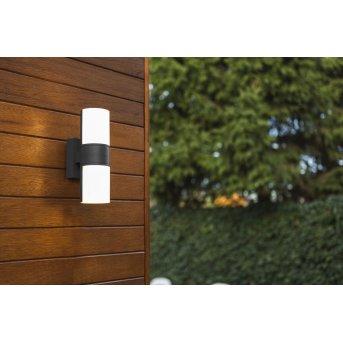 Lutec CYRA Zewnętrzny kinkiet LED Czarny, 2-punktowe