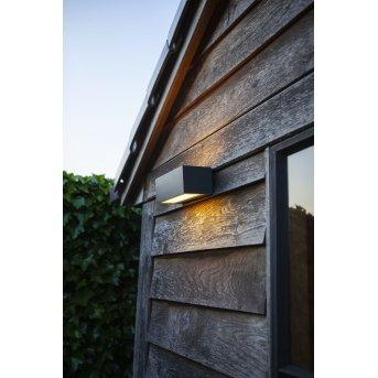 Lutec GEMINI Zewnętrzny kinkiet LED Antracytowy, 2-punktowe, Zmieniacz kolorów