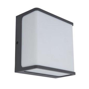 Lutec Doblo Zewnętrzny kinkiet LED Antracytowy, 1-punktowy