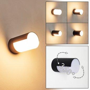 Baulund Zewnętrzny kinkiet LED Czarny, 1-punktowy