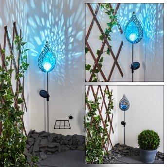 Rovinj Lampa solarna LED Niebeieski, Srebrny, 1-punktowy