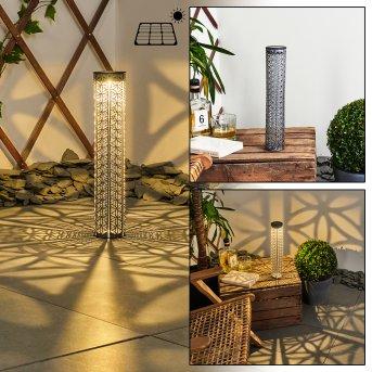 Hankinson Lampa solarna LED Czarny, Siwy, Srebrny, 1-punktowy