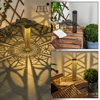 Hankinson Lampa solarna LED Czarny, Złoty, 1-punktowy