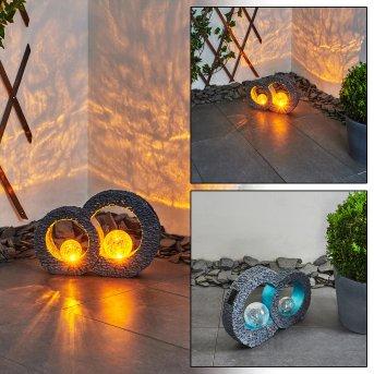Siviri Lampa solarna LED Niebeieski, Siwy, Przezroczysty, 1-punktowy