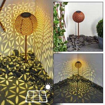 Samoao Lampa solarna LED Czarny, Rudy, 1-punktowy