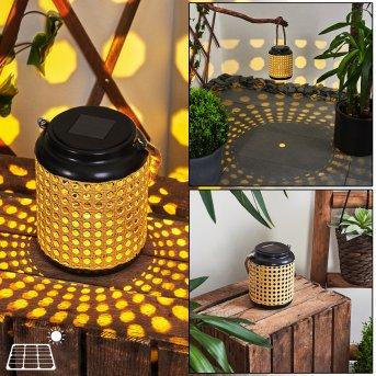 Sessivi Lampy solarne LED Czarny, Brązowy, 1-punktowy