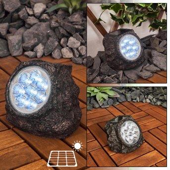 Sameo Lampy solarne LED Brązowy, 8-punktowe