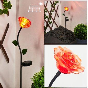 Kerembai Lampa solarna LED Czarny, 1-punktowy