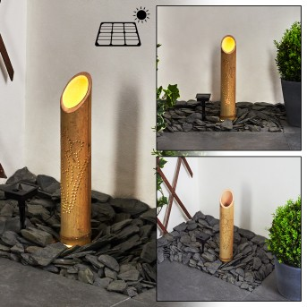 Tolab Lampa solarna LED Czarny, Brązowy, 1-punktowy