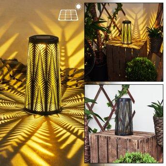 Météo Lampa solarna LED Czarny, Złoty, 1-punktowy