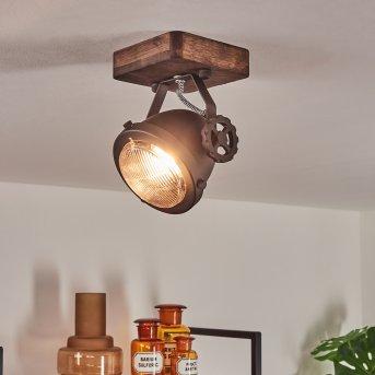 Herford Lampa Sufitowa Brązowy, Ciemne drewno, 1-punktowy