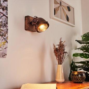 Herford Lampa ścienna Rudy, Ciemne drewno, 1-punktowy