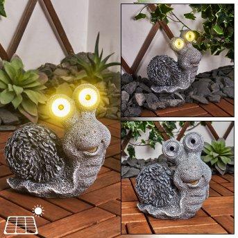 Sunderby Lampa solarna LED Siwy, Pomarańczowy, 2-punktowe