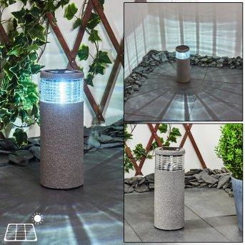 Mesabolo Lampa solarna LED Czarny, Siwy, 1-punktowy