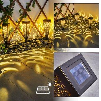 Staranzano Lampa solarna LED Żółty, Czarny, 1-punktowy