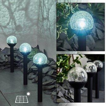 Colognole lampy solarne (3 Szt.) LED Czarny, 1-punktowy