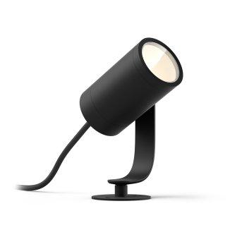 Philips Hue Ambiance White & Color WACA Lily oprawazestwa podstawowy LED Czarny, 1-punktowy, Zmieniacz kolorów