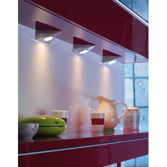 Leuchten Direkt THEO Oświetlenie podszafkowe LED Stal nierdzewna, 3-punktowe