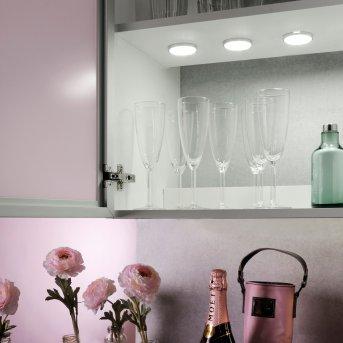 Leuchten Direkt THEO Oświetlenie podszafkowe LED Srebrny, 3-punktowe