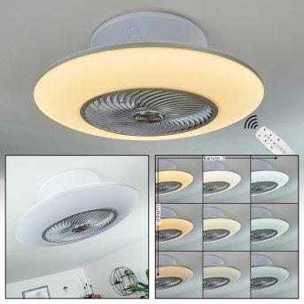Chaville wentylator sufitowy LED Biały, 1-punktowy, Zdalne sterowanie
