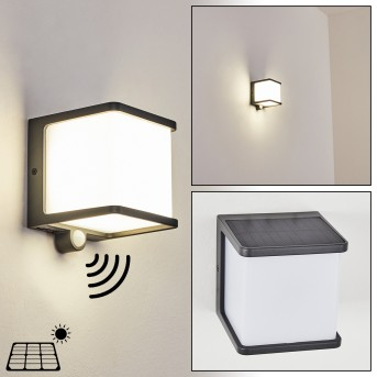 Burseryd Lampy solarne LED Czarny, 1-punktowy, Czujnik ruchu