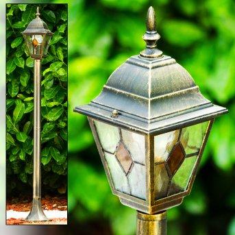 Antibes Zewnętrzna Lampa Stojąca Brązowy, złoty, 1-punktowy