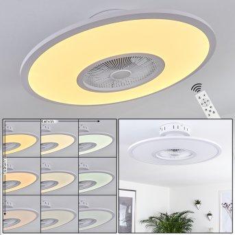 Marmorta wentylator sufitowy LED Biały, 1-punktowy, Zdalne sterowanie