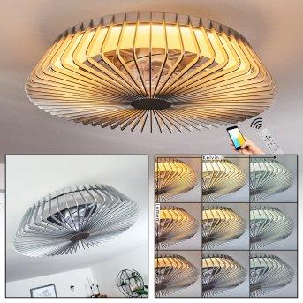 Rivarotta wentylator sufitowy LED Biały, 1-punktowy, Zdalne sterowanie