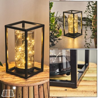 Aracaju Lampa solarna LED Czarny, 30-punktowe