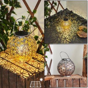 Moreland Lampy solarne LED Czarny, Srebrny, Miedź, 1-punktowy
