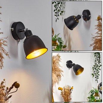 Pistrino Lampa ścienna Chrom, Czarny, 1-punktowy