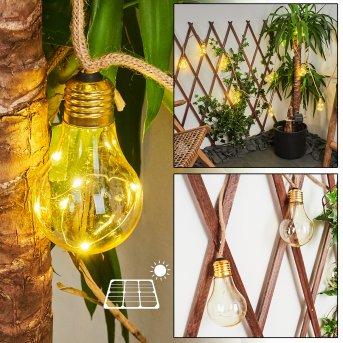 Trygsland listwa solarna LED Brązowy, 50-punktowe