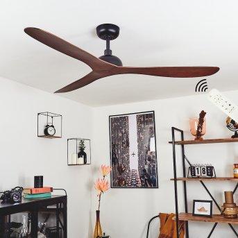 Follseland wentylator sufitowy Czarny, Brązowy, Wygląd drewna, Zdalne sterowanie