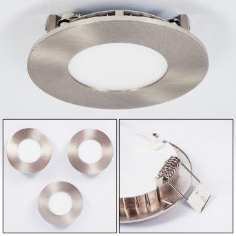Finsrud Oprawa wpuszczana LED Nikiel matowy, 1-punktowy