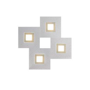 Grossmann KARREE Oświetlenie ścienne i sufitowe LED Aluminium, W kolorze szampana, 4-punktowe