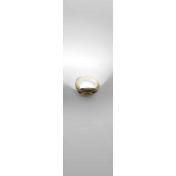 Artemide Pirce Micro Lampa ścienna LED Złoty, 1-punktowy