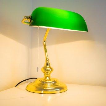 Lampa bankierska Mosiądz, 1-punktowy