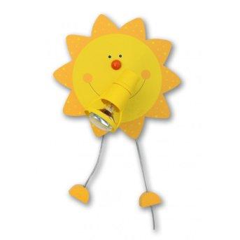Waldi Sonne lampa ścienna Żółty, 1-punktowy