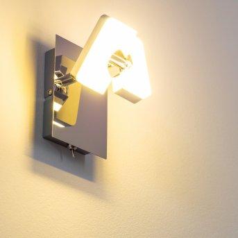 Turin spot ścienny LED Chrom, 1-punktowy