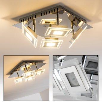 Cerreto lampa sufitowa LED Chrom, 4-punktowe