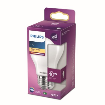 Philips LED E27 4,5 Watt 2700 Kelvin 470 Lumen