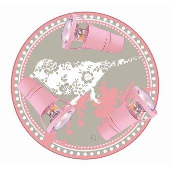Waldi lampa sufitowa Różowy, 3-punktowe