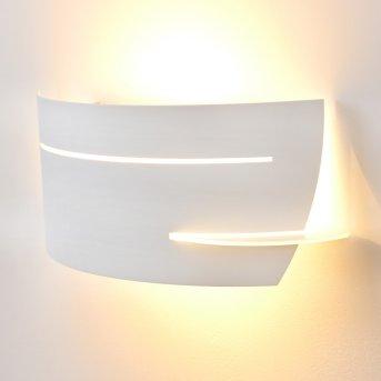 Novara lampa ścienna Biały, 1-punktowy