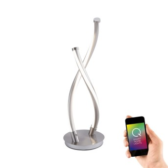 Paul Neuhaus Q-MALINA Lampa stołowa LED Stal nierdzewna, 2-punktowe, Zdalne sterowanie